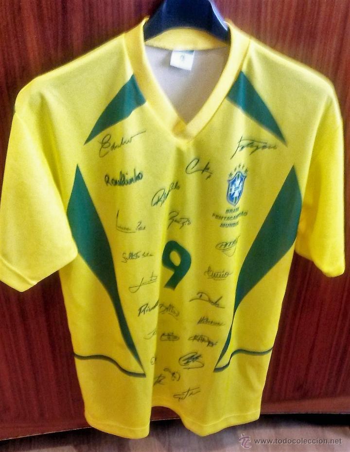 CAMISETA Nº 9 SELECCIÓN DEL BRASIL - PENTACAMPEONA DEL MUNDO (Coleccionismo Deportivo - Ropa y Complementos - Camisetas de Fútbol)