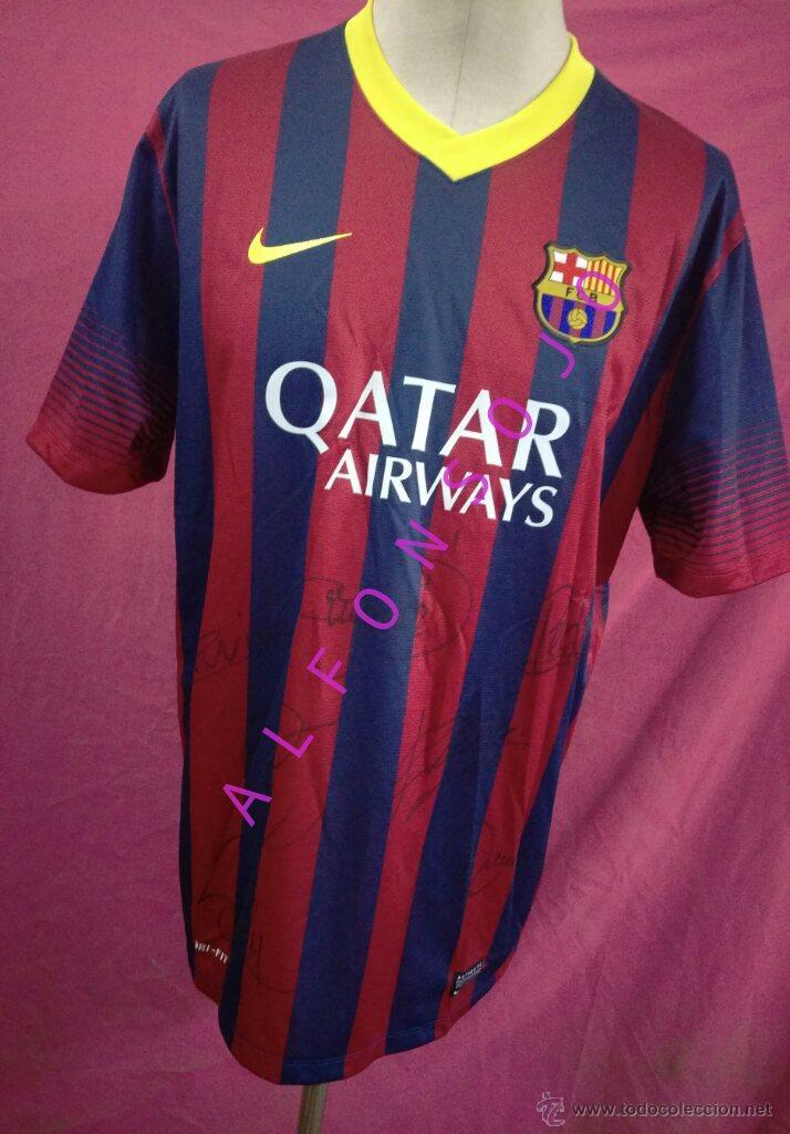 camiseta futbol nike barcelona. firmada por los - Comprar Camisetas ... f4534e7d77b36