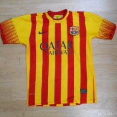 Coleccionismo deportivo: CAMISETA DEL FUTBOL CLUB F.C. BARCELONA. BARSA. SEGUNDA EQUIPACION. MESSI. TALLA 12. TDKDEP3. Lote 151975576