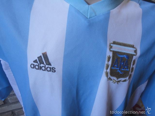 1550063f3bb3a CAMISETA FUTBOL ORIGINAL ADIDAS SELECCION ARGENTINA TALLA XL (Coleccionismo  Deportivo - Ropa y Complementos -