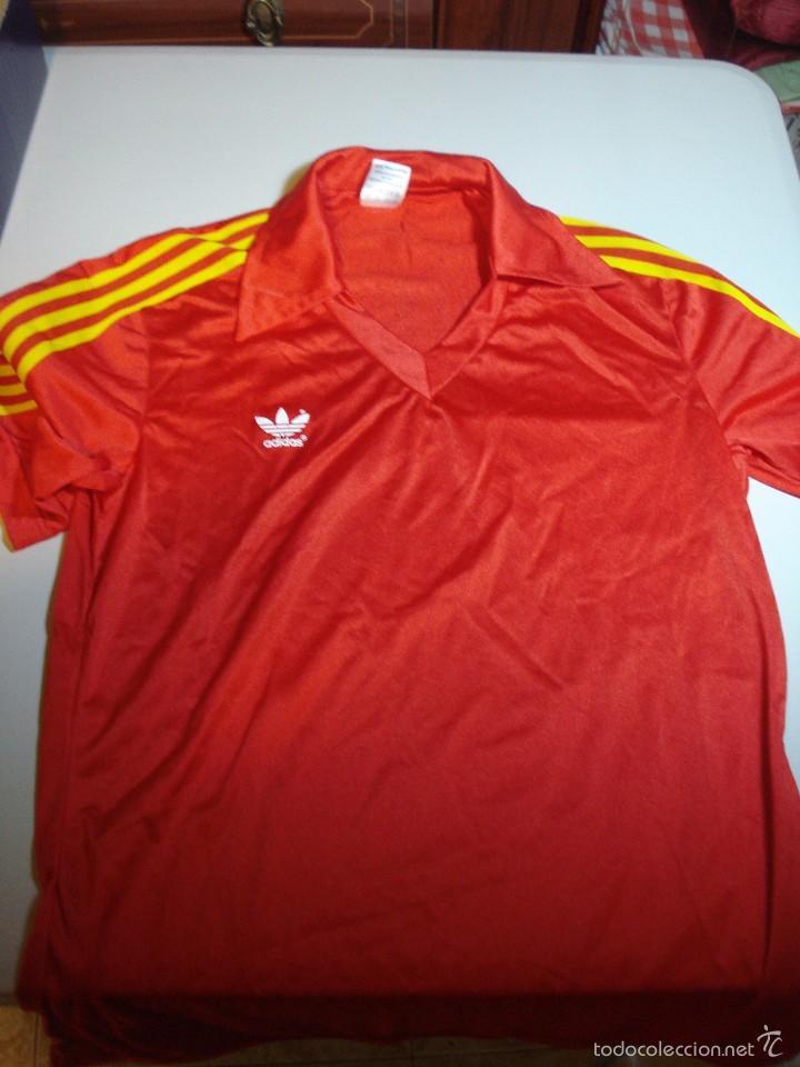 8c7220810e7fc Camiseta adidas original. Colores selección española de futbol vintage años  70. Nueva. Talla 4 5