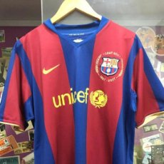 Coleccionismo deportivo: CAMISETA NIKE FUTBOL CLUB BARCELONA TEMPORADA 2007 - 50 ANIVERSARIO CAMP NOU - RONALDINHO - TALLA L. Lote 92793305