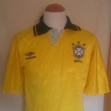 Sports collectibles - Camiseta Futbol Seleccion Brasil Umbro 1991 - 58537964