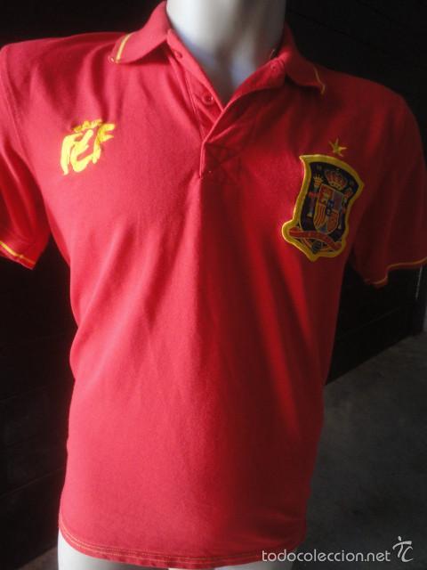 3eb70e9eb7125 CAMISETA FUTBOL OFICIAL SELECCION ESPAÑOLA TALLA L (Coleccionismo Deportivo  - Ropa y Complementos - Camisetas