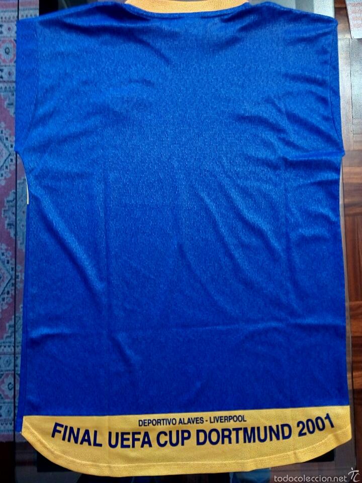 Coleccionismo deportivo: Camiseta Historica C. D. Alavés - Foto 2 - 136349121