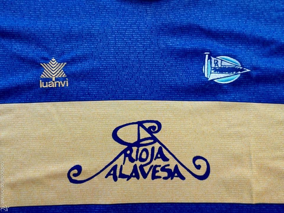 Coleccionismo deportivo: Camiseta Historica C. D. Alavés - Foto 5 - 136349121