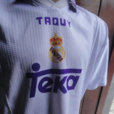 Coleccionismo deportivo: CAMISETA FUTBOL ORIGINAL TAQUY REAL MADRID JUGADOR RAUL TALLA L. Lote 60515539
