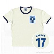 Coleccionismo deportivo: CAMISETA VINTAGE * SELECCION OFICIAL DE FUTBOL DE GRECIA * TALLA M * SELLADA EN BLISTER. Lote 86564608