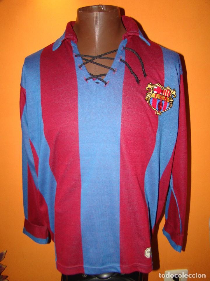f7503bca4f2cf CAMISETA FC BARCELONA - REPLICA VINTAGE 1920 (Coleccionismo Deportivo -  Ropa y Complementos - Camisetas