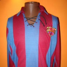 Coleccionismo deportivo: CAMISETA FC BARCELONA - REPLICA VINTAGE 1920. Lote 125064450