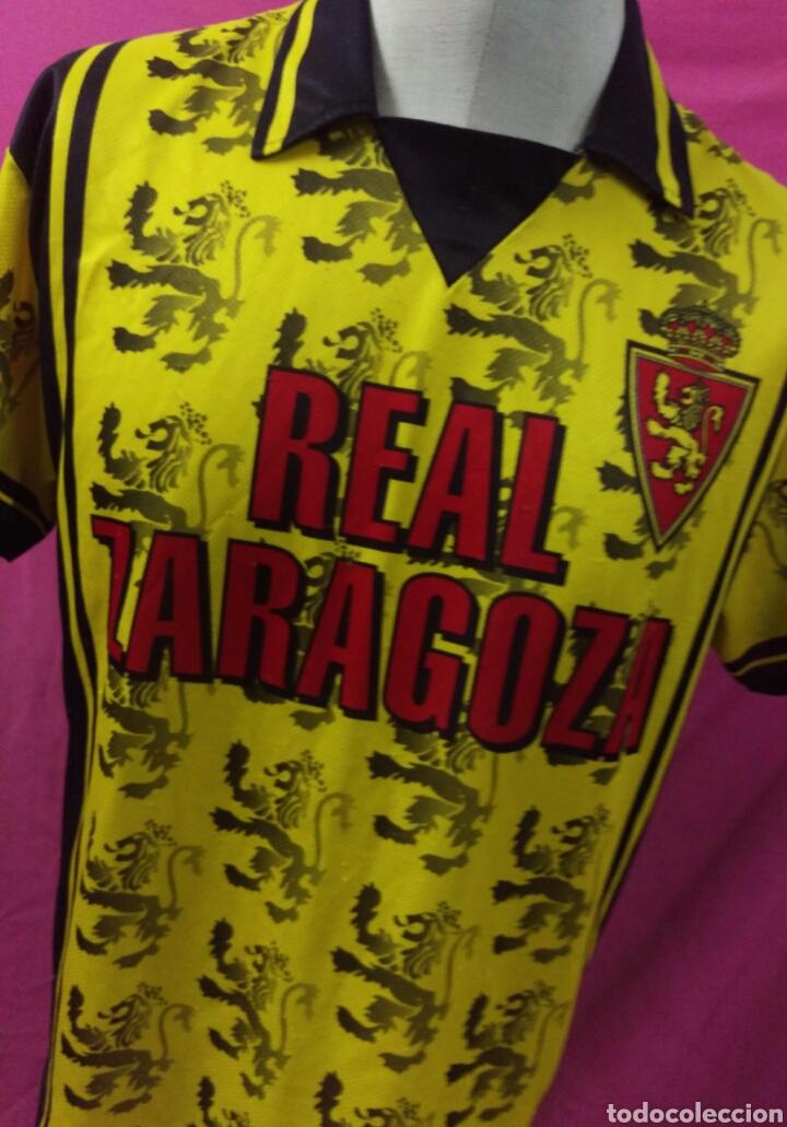 CAMISETA FÚTBOL REAL ZARAGOZA TALLA L (Coleccionismo Deportivo - Ropa y Complementos - Camisetas de Fútbol)