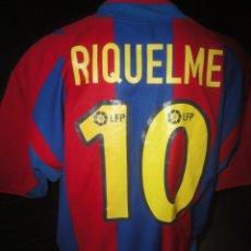 Coleccionismo deportivo - CAMISETA FUTBOL ORIGINAL NIKE BARCELONA FC BARCA JUGADOR RIQUELME TALLA XL - 65670874