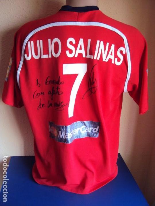 Coleccionismo deportivo: (F-161260)CAMISETA DEDICADA DE JULIO SALINAS , ESPAÑA , FUTBOL PLAYA , MATCH WORN - Foto 6 - 69361313