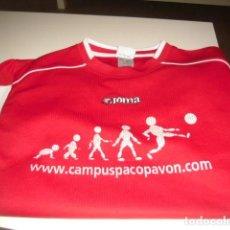 Coleccionismo deportivo: CAMISETA DE FUTBOL JOMA CAMPUS PACO PAVON TALLA XS ROJA. Lote 69479649
