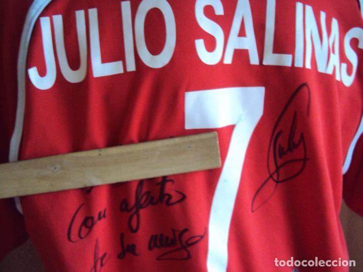 Coleccionismo deportivo: (F-161260)CAMISETA DEDICADA DE JULIO SALINAS , ESPAÑA , FUTBOL PLAYA , MATCH WORN - Foto 12 - 69361313