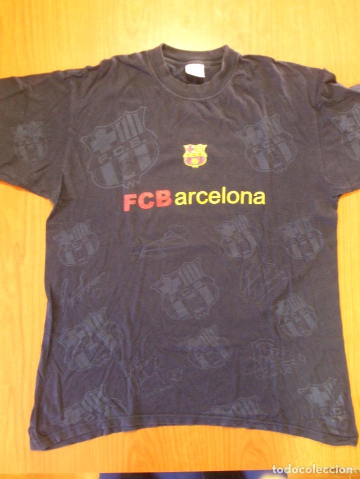 Camiseta Antigua FC Barcelona Talla L - Oficial Barça - Con Escudo a color  y escudos estampados b4cc29ff652