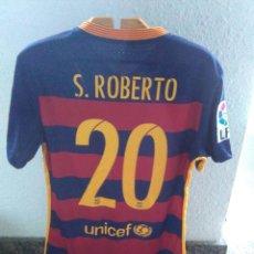 Coleccionismo deportivo: CAMISETA MATCH WORN FC BARCELONA #20 SERGI ROBERTO. Lote 80719616