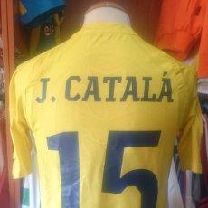 Coleccionismo deportivo: CAMISETA FUTBOL VILLARREAL C.F Nº15 J.CATALA MATCH WORN 2010-2011 PUMA. Lote 83026380