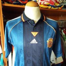 Coleccionismo deportivo: CAMISETA SHIRT SELECCION ESPAÑA 1998 2ª EQUIPACION ADIDAS. Lote 84741968