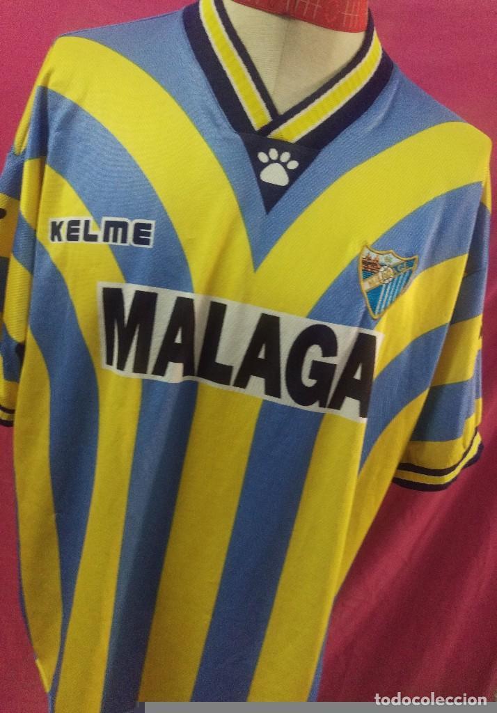 CAMISETA FUTBOL ORIGINAL KELME MALAGA CF. MATCH WORN TALLA XL MUY RARA  (Coleccionismo Deportivo b22d4be9f022c