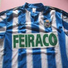 Coleccionismo deportivo: *(2)-CAMISETA-DEPORTIVO DE LA CORUÑA-1997/1998-FEIRACO-TALLA M-PERFECTO ESTADO-VER FOTOS.. Lote 86200500