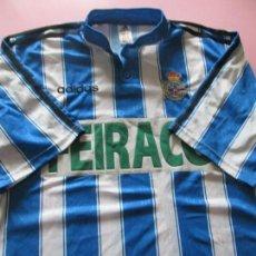 Coleccionismo deportivo: *(3)-CAMISETA FÚTBOL-DEPORTIVO DE LA CORUÑA-1997/1998-FEIRACO-SIN NOMBRE-TALLA L-PERFECTO ESTADO. Lote 93757135