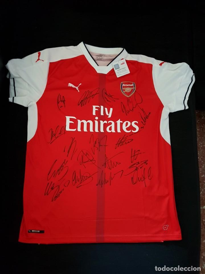 unica camiseta de futbol firmada por el equipo - Comprar Camisetas ...