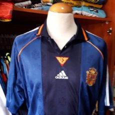 Coleccionismo deportivo: CAMISETA SHIRT FUTBOL SELECCION ESPAÑA 1998 2ª EQUIPACION ADIDAS. Lote 90087020
