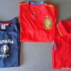 Coleccionismo deportivo: LOTE 3 CAMISETAS FUTBOL SELECCIÓN ESPAÑOLA. Lote 90553955