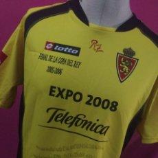 Colecionismo desportivo: CAMISETA FUTBOL ORIGINAL LOTTO REAL ZARAGOZA CONMEMORATIVA FINAL COPA 2005 TALLA XL. Lote 91340880