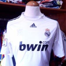 Coleccionismo deportivo: CAMISETA SHIRT FUTBOL REAL MADRID 2009-2010 BWIN ADIDAS. Lote 91651750