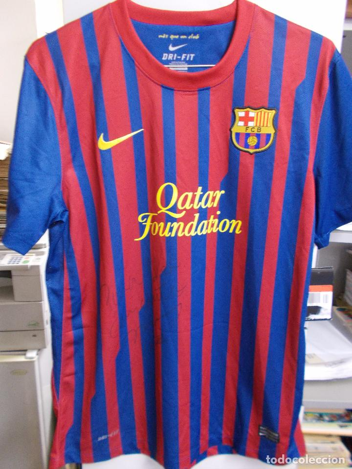 CAMISETA FC BARCELONA - FIRMADA POR LEO MESSI - TALLA L - (Coleccionismo  Deportivo - e6307292013
