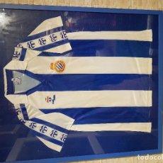 Coleccionismo deportivo: CAMISETA MASSANA RCD ESPAÑOL ENMARCADA. Lote 95709323