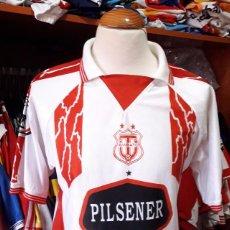 Coleccionismo deportivo: CAMISETA SHIRT FUTBOL CITY AMBATO ECUADOR PILSENER. Lote 95720715