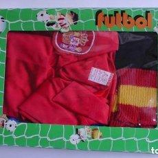 Coleccionismo deportivo: EQUIPACION INFANTIL AÑOS 70 SELECCION ESPAÑOLA XIROI KURIEL CARLOS ARNAL NUEVO A ESTRENAR. Lote 97629931