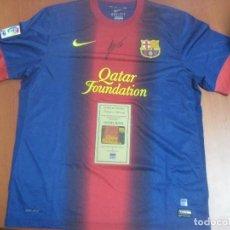 Coleccionismo deportivo: CAMISETA ORIGINAL DEL BARCELONA CON AUTOGRAFO AUTENTICO DE LEO MESSI CON CERTIFICADO-COA. Lote 99992423