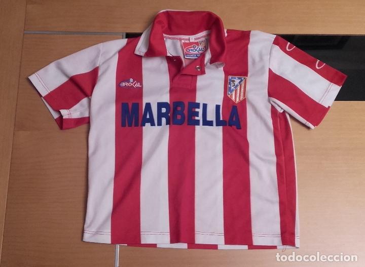 6f76300fe95d9 CAMISETA OFICIAL ATLETICO DE MADRID NIÑO TALLA 4 (Coleccionismo Deportivo -  Ropa y Complementos -