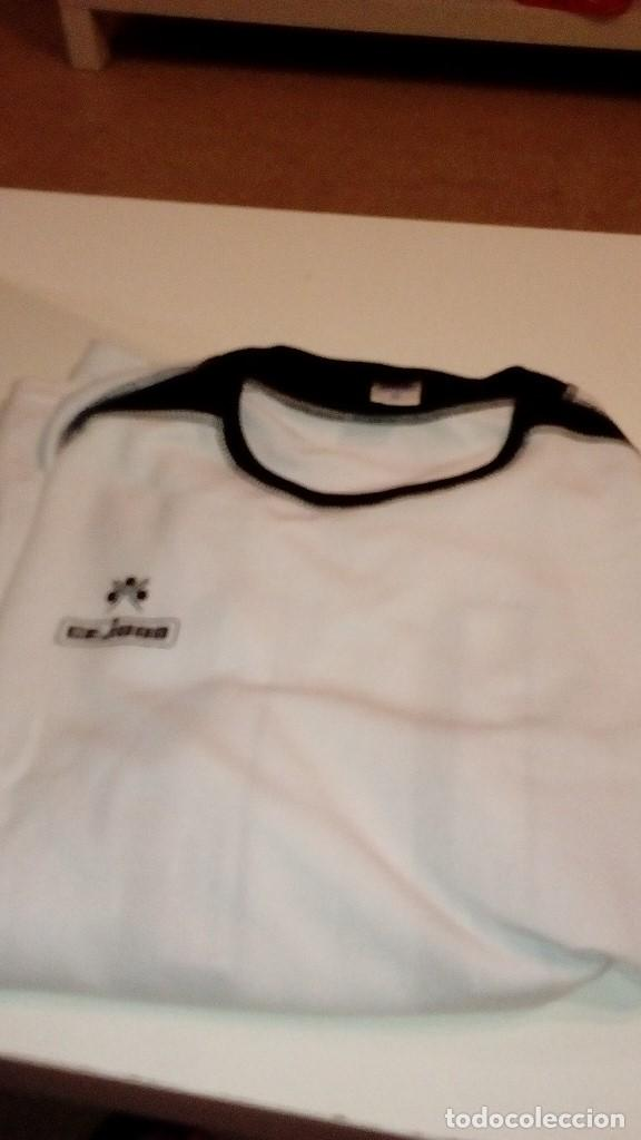 G-151217 CAMISETA DE FUTBOL BLANCA CEJUDO TALLA 12 UNA XL MAS O MENOS NUMERO 11 DETRAS (Coleccionismo Deportivo - Ropa y Complementos - Camisetas de Fútbol)