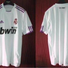 Coleccionismo deportivo: CAMISETA REAL MADRID - ORIGINAL ADIDAS, DE SU TIENDA OFICIAL - TALLA 176 CM / XL. Lote 102550151