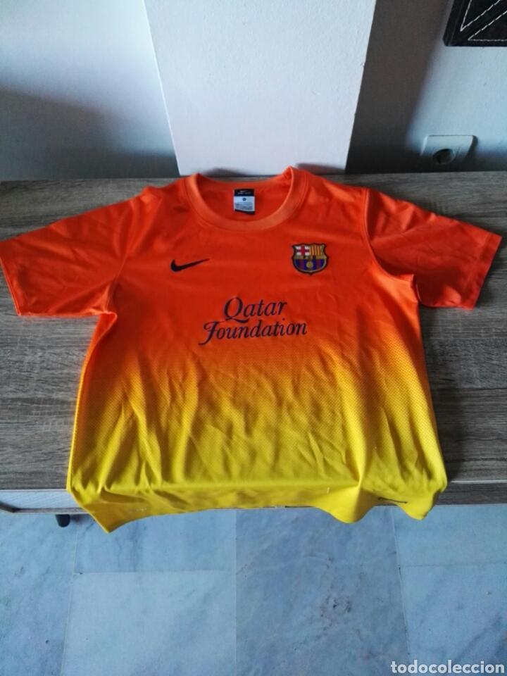 CAMISETA FÚTBOL FC BARCELONA NARANJA (Coleccionismo Deportivo - Ropa y Complementos - Camisetas de Fútbol)