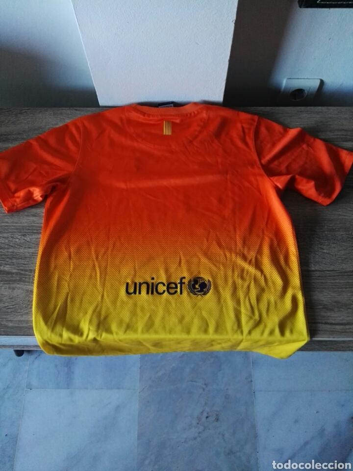 Coleccionismo deportivo: Camiseta fútbol FC Barcelona naranja - Foto 2 - 103061786
