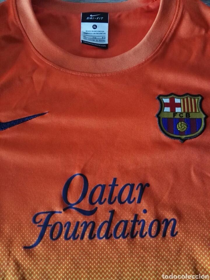 Coleccionismo deportivo: Camiseta fútbol FC Barcelona naranja - Foto 3 - 103061786