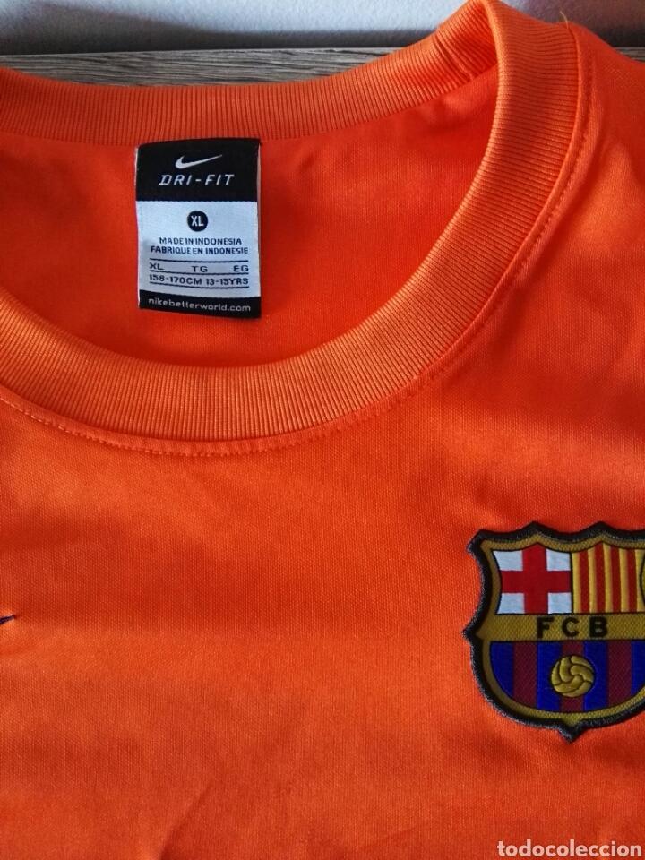 Coleccionismo deportivo: Camiseta fútbol FC Barcelona naranja - Foto 4 - 103061786