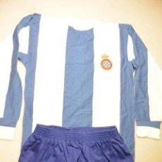 Coleccionismo deportivo: EQUIPACION FUTBOL REAL CLUB DEPORTIVO ESPAÑOL BARCELONA. Lote 103327779
