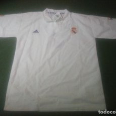 Coleccionismo deportivo: ANTIGUO POLITO REAL MADRID DE ADIDAS, Nº 7 ATRAS Y PONE RAUL, 2002 ES NUEVA EN PERFECTAS CONDICIONES. Lote 103735059