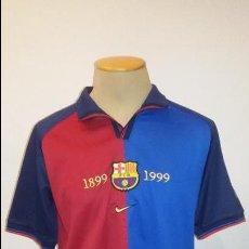 Coleccionismo deportivo: CAMISETA CENTENARIO F.C.BARCELONA. 1899-1999. NIKE. DORSAL 11 RIVALDO. TALLA L.. Lote 105053635