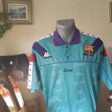 Coleccionismo deportivo: FC BARCELONA 1993 CAMISETA KAPPA VERDE+ CALZONA. Lote 108809559