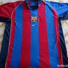 Coleccionismo deportivo: CAMISETA DEL FÚTBOL CLUB BARCELONA. TEMPORADA 2001 2002. NIKE. TALLA XL. 230 GR. Lote 109315451