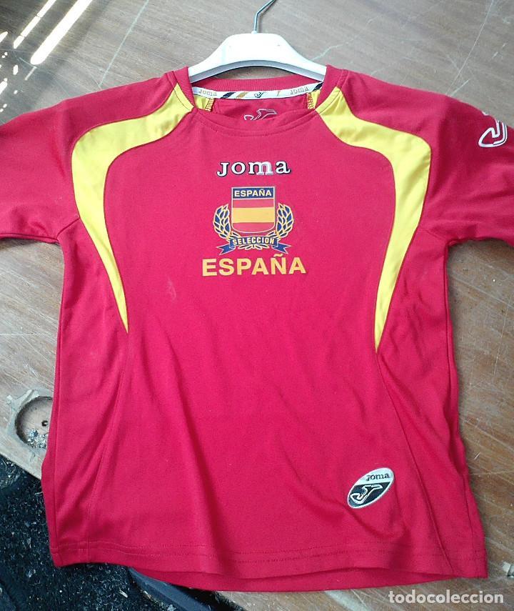 CAMISETA FUTBOL ESPAÑA SELECCIÓN JOMA (Coleccionismo Deportivo - Ropa y  Complementos - Camisetas de Fútbol 088c9704eae