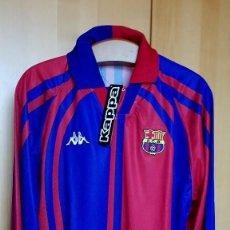 Coleccionismo deportivo: FC BARCELONA BARÇA CAMISETA Y PANTALON OFICIAL KAPPA CHAMPIONS 1997-98 NUEVOS NO MATCH WORN. Lote 113683167